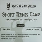 Short Tennis Camp